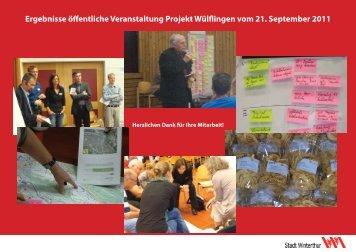 Ergebnissen des Abends(PDF, 199 KB) - Stadtentwicklung ...