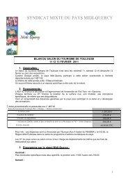 bilan salon tourisme 2011 - Pays Midi-Quercy