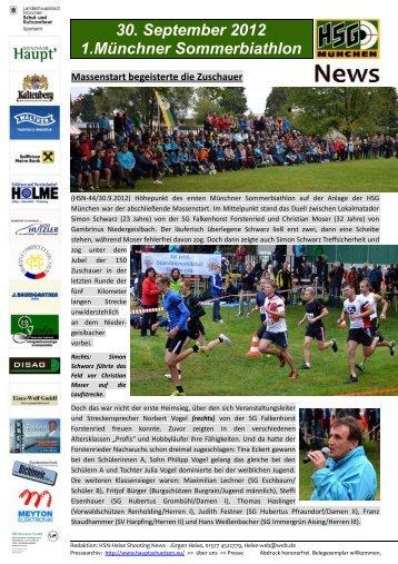 30. September 2012 1.Münchner Sommerbiathlon - HSG München