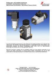 Bedienungsanleitung (1438 kb) - Bühler Technologies GmbH