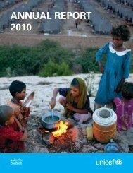 ANNUAL REPORT 2010 - Unicef