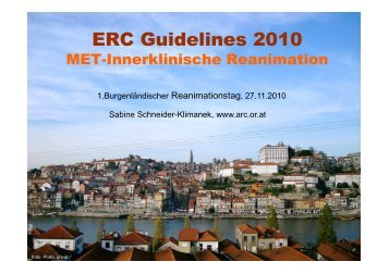 ERC Guidelines 2010: MET-Innerklinische Reanimation
