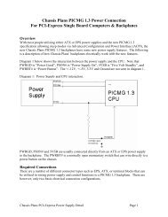 Chassis Plans PICMG 1.3 Power Connection For PCI-Express ...