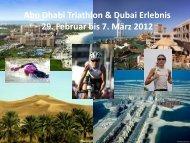 Abu Dhabi Triathlon und Dubai Erlebnis 29. Februar ... - Andrea Brede