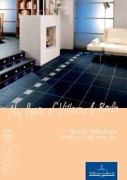 Welt der Wohnfliesen World of living room tiles