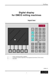 Digital display for EMCO milling machines