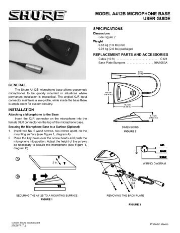 MODEL A412B MICROPHONE BASE USER GUIDE