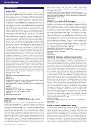 Journal Reviews - Advances in Clinical Neuroscience and ...