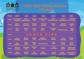Kid's Club Activity Program 3-6 years - iHaveNotBeenThere