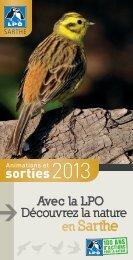 Programme des sorties 2013 - Fête de la Nature