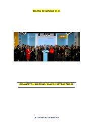 Boletin noticias n 35. Caso Gurtel.Barcenas. Caja B.Del 23 de enero al 12 de Febrero 2015