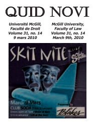 March 9, 2010 - Latest Issue - McGill University