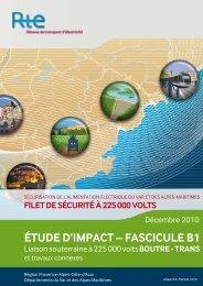 ÉTUDE D'IMPACT – FASCICULE B1