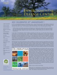 edc celebrates 35th anniversary - Environmental Defense Center