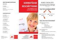 geringfuegig2012 - AK Burgenland - Arbeiterkammer