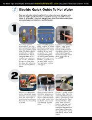 Electric Quick Guide To Hot Water - Whirlpool