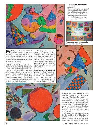 To Download This Article - Arts & Activities Magazine