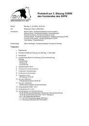 Protokoll zur 3. Sitzung 3/2009 des Vorstandes des SVPK