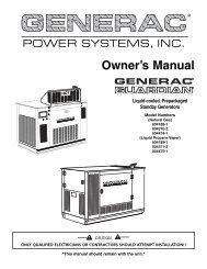 Quietpact 75D Diagnostic Repair Manual Models     - Generac