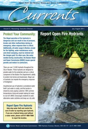 Report Open Fire Hydrants - Boston Water and Sewer Commission