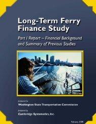 Long-Term Ferry Finance Study - Washington State Transportation ...