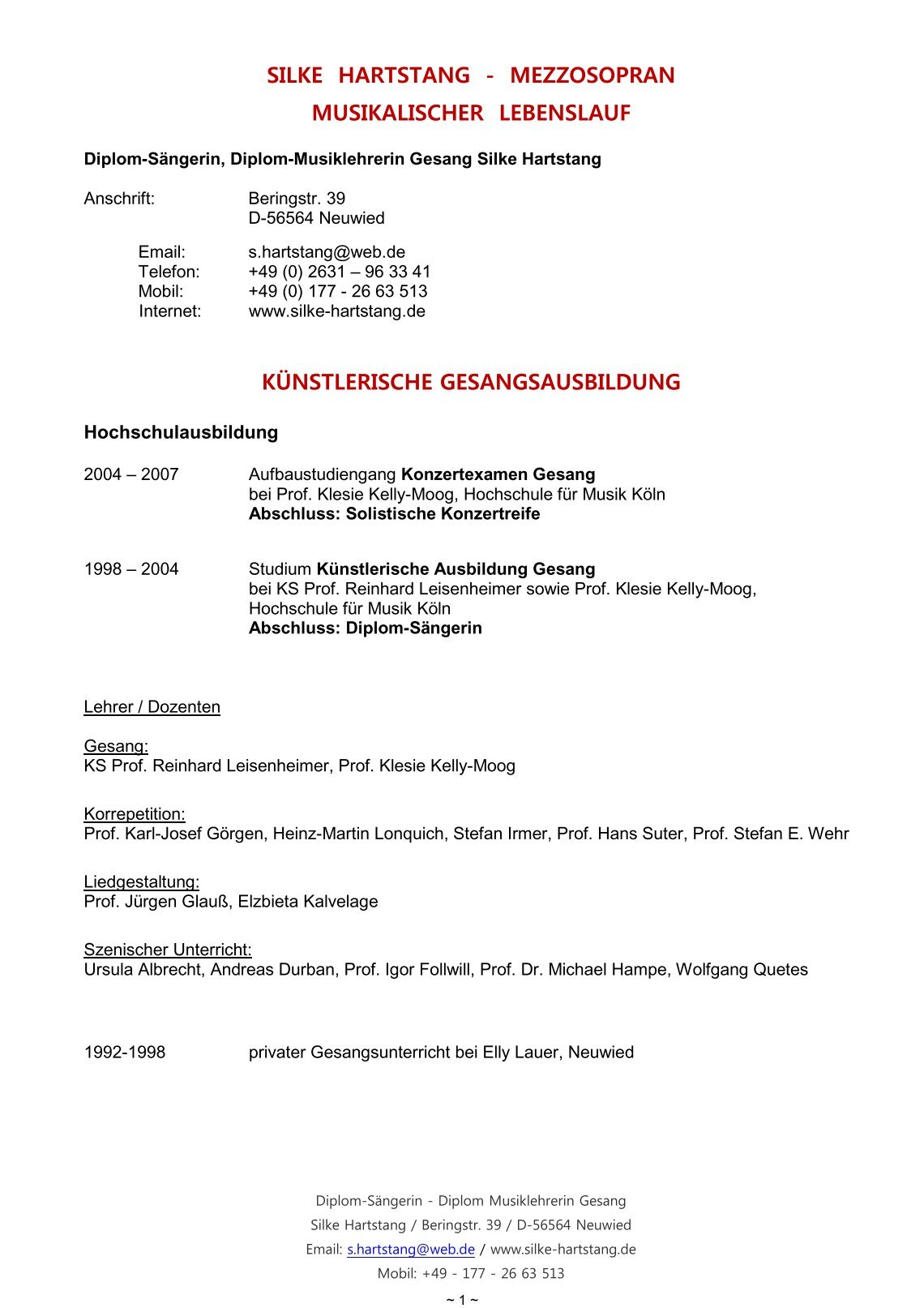 Fein Lebenslauf Pdf Proben Fotos - Entry Level Resume Vorlagen ...