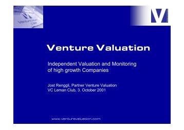 Presentation VC Leman Club - Venture Valuation
