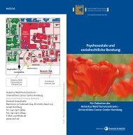 Psychosoziale und sozialrechtliche Beratung - Universitätsklinikum ...