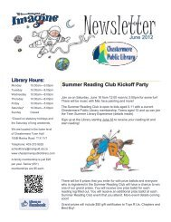 June 2012 Summer Reading Club Kickoff Party - Chestermere ...