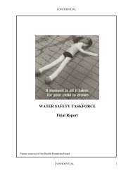 WATER SAFETY TASKFORCE Final Report - Ministry of Social and ...