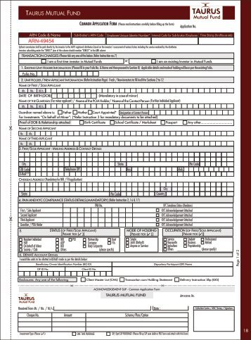 Taurus Common Application Form.pdf