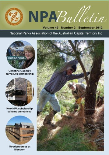 Vol 49 No 3 Sep 2012 - National Parks Association of the ACT