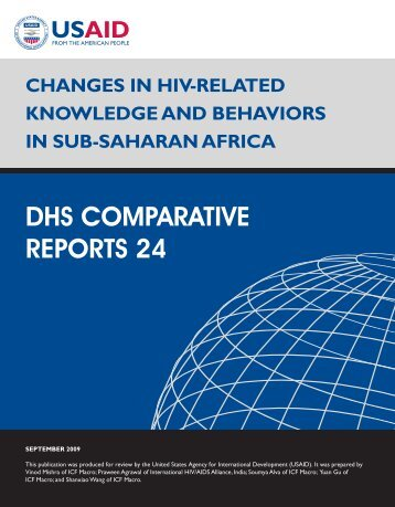 Changes in HIV-Related Knowledge and Behaviors in Sub-Saharan ...