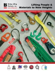 Slings • Wire Rope • Lifting Devices • Rigging Hardware • Hoists ...