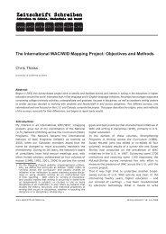 The International WAC/WID Mapping Project - Zeitschrift Schreiben