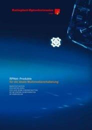 RPNet- Produkte für die ideale Multimediaverkabelung - Ratioplast