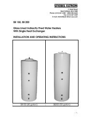 SB Storage Tanks for Solar Applications | English - Stiebel Eltron