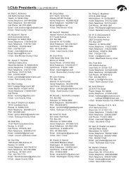 I-Club Presidents - The University of Iowa Foundation