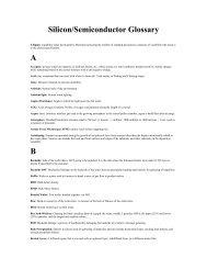MEMC Glossary - MEMC Electronic Materials, Inc.