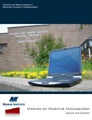 MMM Program Information - Marine Institute - Memorial University of ...