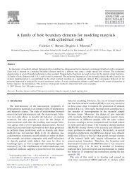 A family of hole boundary elements for modeling materials ... - UFRGS