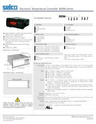 Electronic Temperature Controller 3699A Series - ThomasNet
