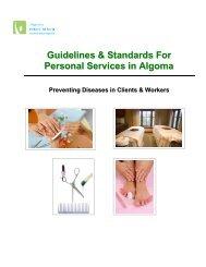 Introduction - Algoma Public Health