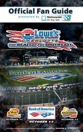 Official Fan Guide - Charlotte Motor Speedway