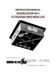 instruction manual quadblaster qb-4 ultrasonic bird repeller