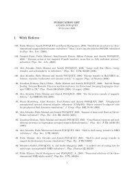 List of Publications - IMAGe