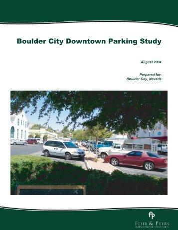 Boulder City Downtown Parking Study 2004.pdf - City of Boulder City