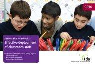 effective deployment of classroom staff resource kit for schools