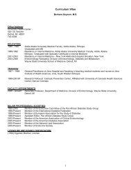 Curriculum Vitae - Division of Endocrinology, Diabetes and ...