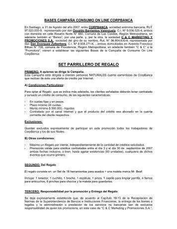 SET PARRILLERO DE REGALO - Corpbanca